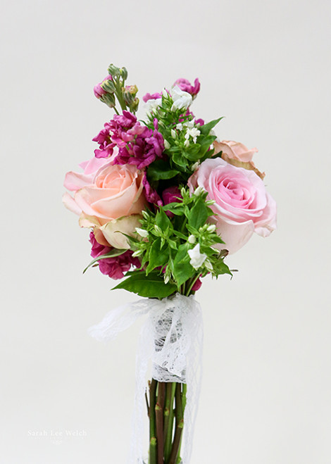 Beautiful roses and phlox, for a simple small bridemaids bouquet.