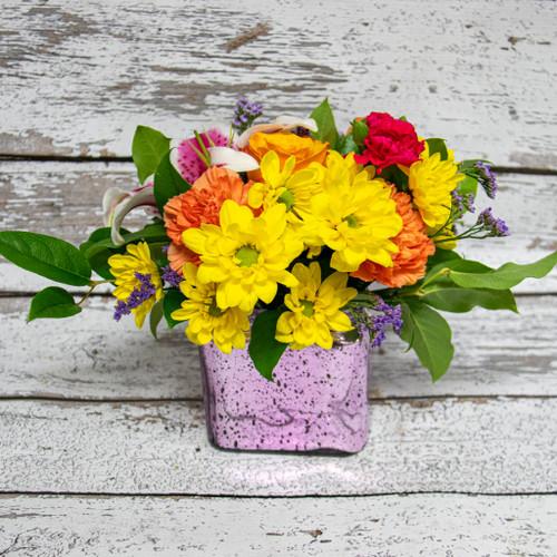Sparkling Lilies Vase Arrangement