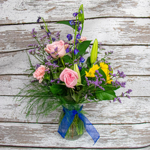 Spring Lilies Vase Arrangement