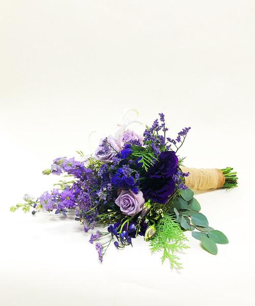 Purple Meadows Lily Bridal Bouquet