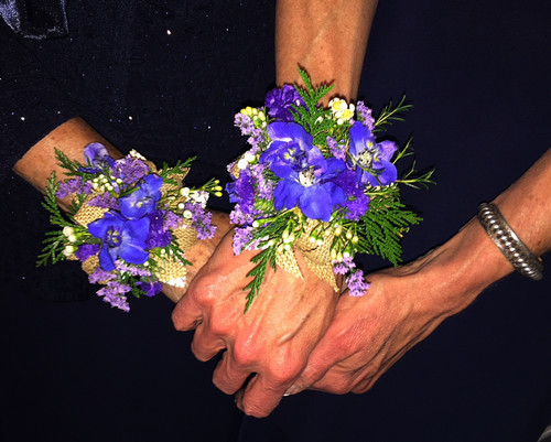 Beautiful Purple Wedding Corsages! Thank you to this awesome bride for sharing her awesome pictures.