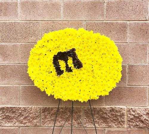 Giant Peanut M&M Custom Funeral Easel Spray