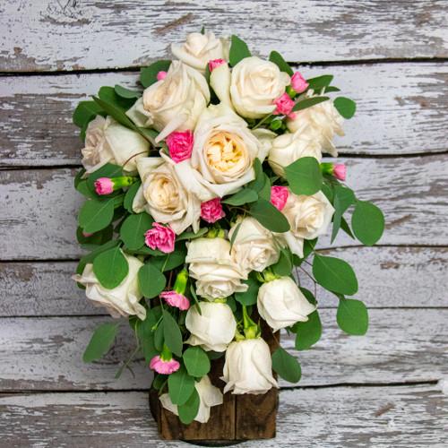 Blushing Roses Bridal Bouquet