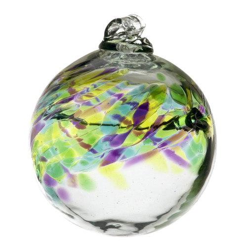 Those born in the month of May are understanding, imaginative, and tenacious. Beautiful and charismatic, a person born in this month captivates the attention of those around them. The colors of this birthday wish ball hold the powers of faith, courage and foresight.