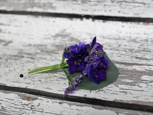 Purple Blossoms Boutonniere