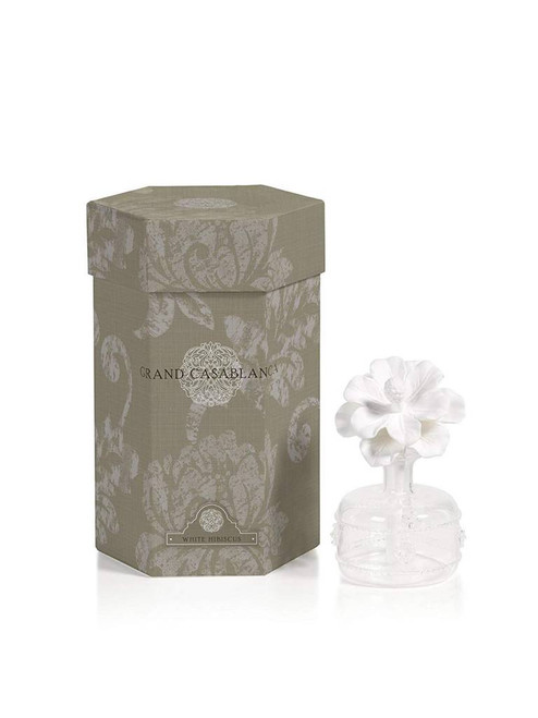 Increase the scent of your surroundings with these unique porcelain diffusers made with class and elegance by Grand Casablanca. With scents from French Gardenia to White Rose your office or house is sure smell of fresh scents and beauty. The porcelain accents fit into each different jar and softly pull the oil scents out into the air.