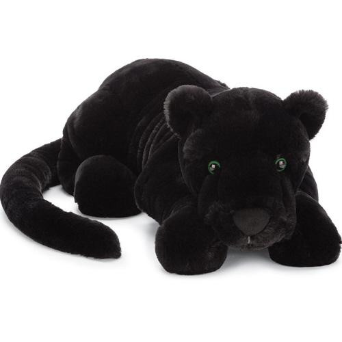 Paris Panther might look wild but this jet-black cutie loves to lounge and loaf. With glossy green eyes, a scrumptious suedey nose and a long, weighted tail, Paris is perfect. Slinky-sublime in velvety-black, this beautiful big cat is snoozing the day away.