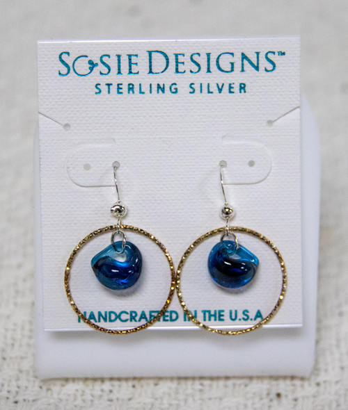 Effortless beach casual earrings! These fun yet elegant wavy shaped cultured sea glass earrings are lightweight and elegant.