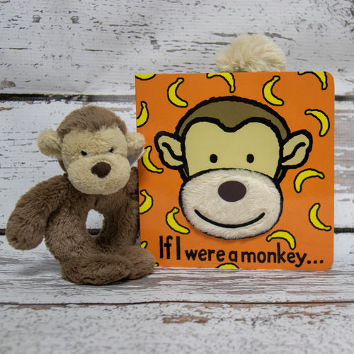 Bashful Monkey likes to rest in the evenings, as swinging from trees all day can be tiring! But luckily he loves to read, and now the little ones can read with him too. If I were a Monkey book is his favourite.