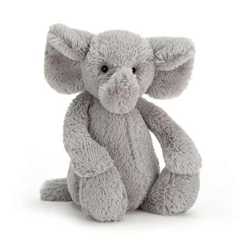 Bashful Elephant has an amazing sense of smell, thanks to that tremendous trunk! If you're doing some baking, don't be surprised if you feel a supersoft nudge and find a hopeful elly beside you!