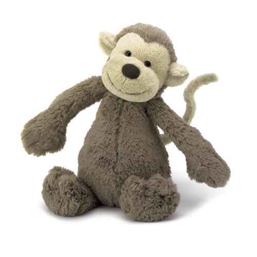 Made of beautiful silky smooth Bashful fur in a scrummy creamy chocolatey colour, this monkey swings through the trees as fast as can be, to become a number one playmate- understandably!