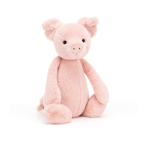 Bashful Piglet is a very busy bee! This perky porker is always rambling and scrambling around to find the tastiest treats in the ground! In baby pink Bashful fur, with a snuggly wiggly tail, you'll want to hug this piggy till the cows come home.