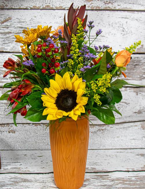 Vibrant Autumn Vase Arrangement