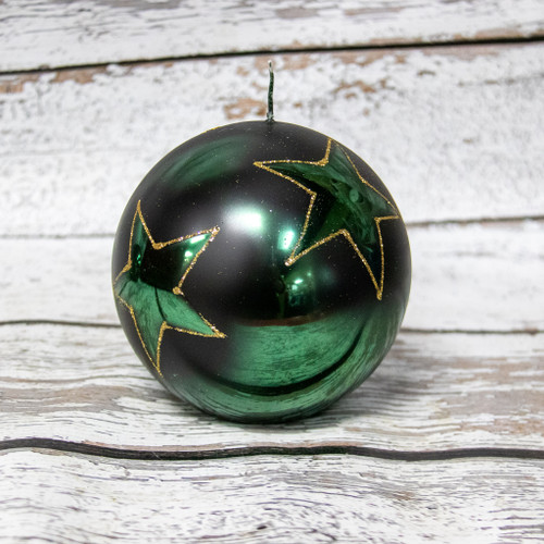 Green Star Ball Candle