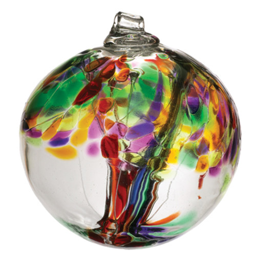 6 inch Kitras Glass Ball in decorative life colors.