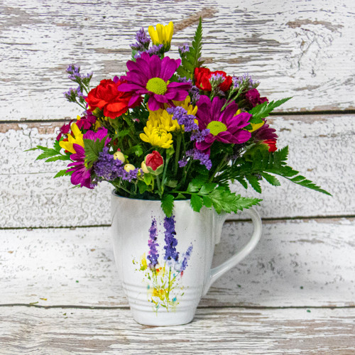 Lavender Watercolor Mug Arrangement