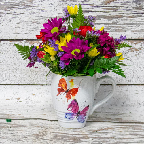 Butterflies Watercolor Mug Arrangement