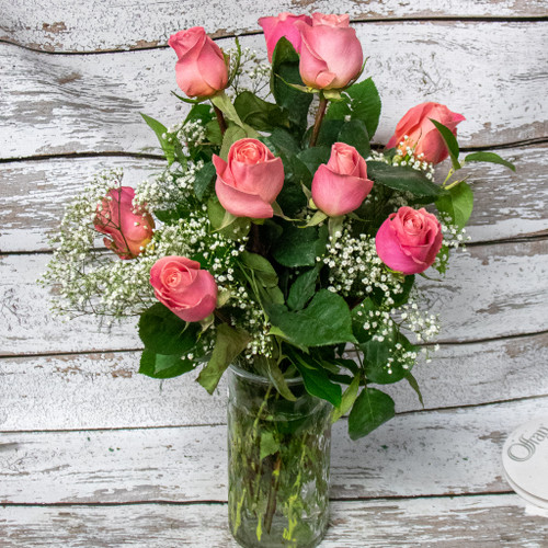 Traditional Rose Arrangement - Pick your Color