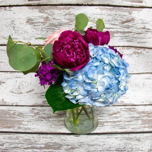 Blue & Berry Vase Arrangement