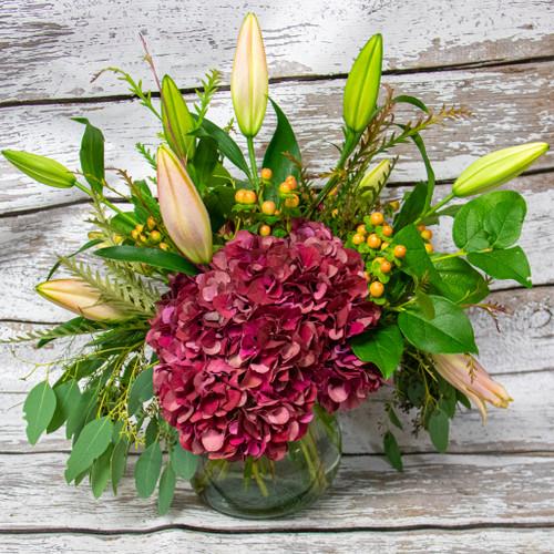 Lady in Red Vase Arrangement