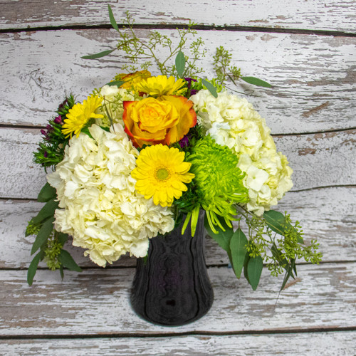 A Bright Spark Vase Arrangement