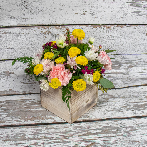 Rustic Spring Wooden Box