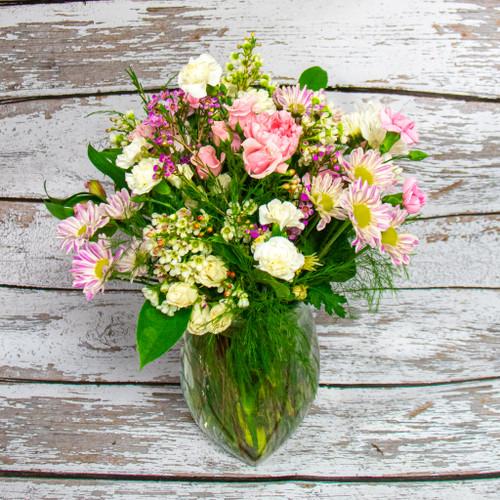 Fields of Pink Vase Arrangement
