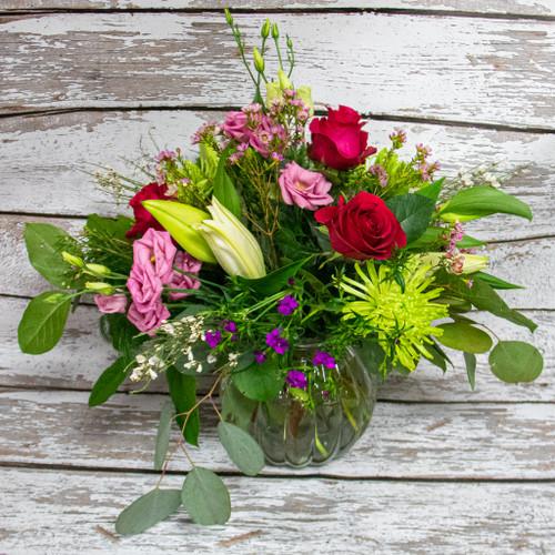 Roses For All Vase Arrangement