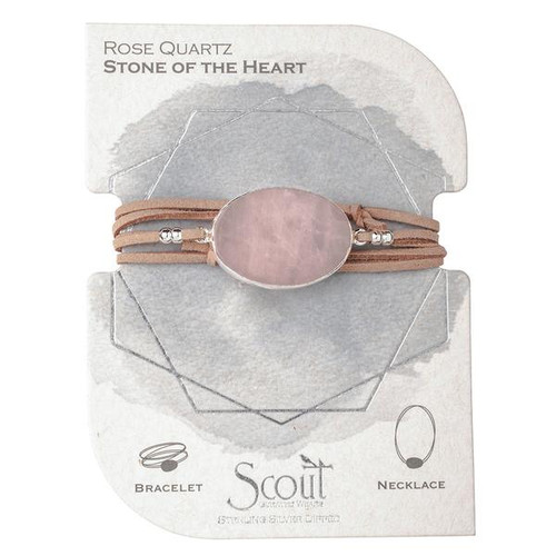 Soft buttery vegan suede and rich semi precious stones intertwine around your wrists or neckline. Effortlessly converts from bracelet to necklace.  Can be wrapped 3 times as a bracelet. Sliding magnetic clasp adjusts to wear as a necklace.