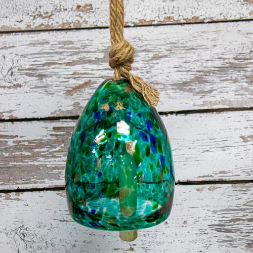 Green Glass Wind Bell