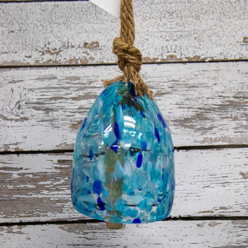 Turquoise Glass Wind Bell