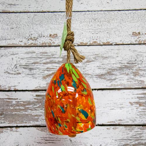 Orange Glass Wind Bell