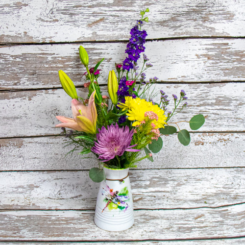 Orders must be received by 1 pm for same day delivery. *Florist reserves the right to substitute flowers of a similar color and style based on quality received daily from vendors.*