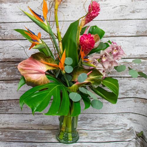 Ginger and Cymbidium Orchids Tropical Arrangement