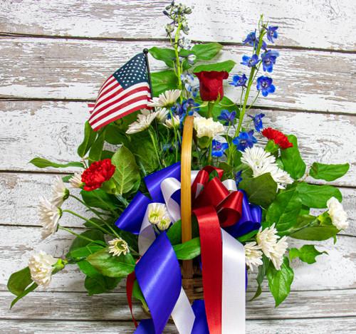 Fourth of July Basket Arrangement