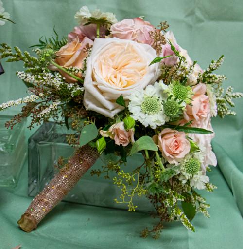 Garden Rose in Pink Bridal Bouquet