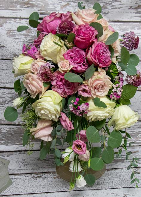 A Lovely Pink Garden Bridal Bouquet