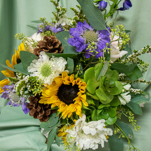 Succulent and Sunflower Bridal Bouquet