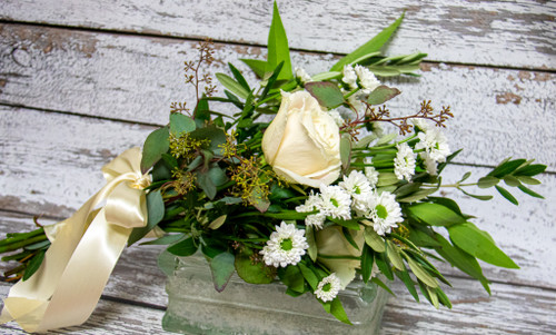 Simplicity in Greens Bridal Bouquet