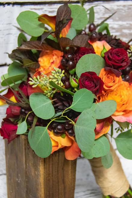 Burst of Autumn Bridal Bouquet