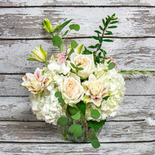 A Dreamy White Garden Vase Arrangement
