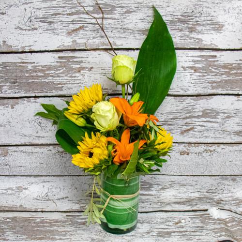 A Tropical Look Vase Arrangement