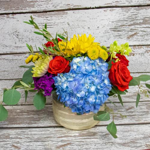 A Golden Day Vase Arrangement