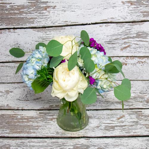 Simply White Peonies Vase Arrangement