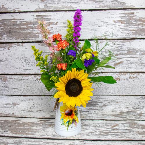 Sunflower Watercolor Vase Arrangement