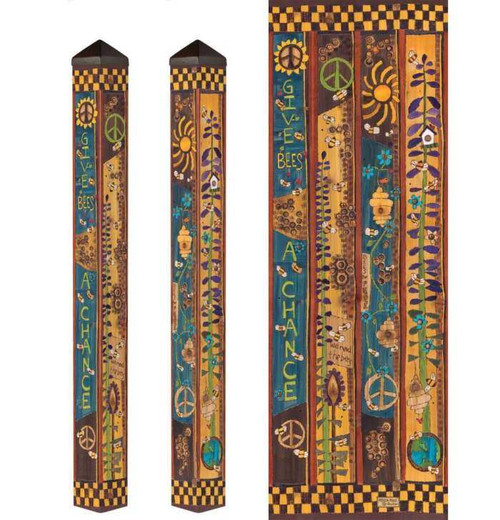 """Bees For Peace -Art Pole- 60"""""""
