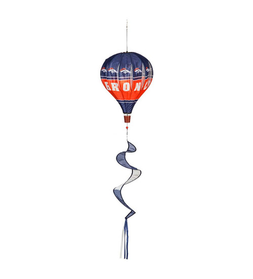 Display this Balloon Spinner for extra gameday spirit! The unique design, which features your favorite team's officially-licensed logo, twirls in the wind to show your loyalty. Simply hang the spinner in any outdoor space to see the design come to life! Made of weather resistant nylon, the hot air balloon style design is a colorful addition to your outdoor gameday decor.