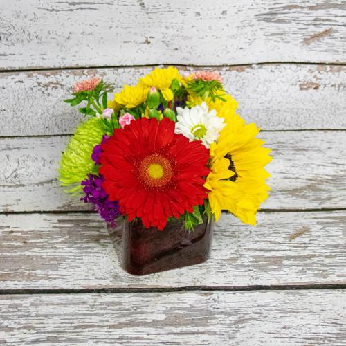A Spark of Red Vase Arrangement