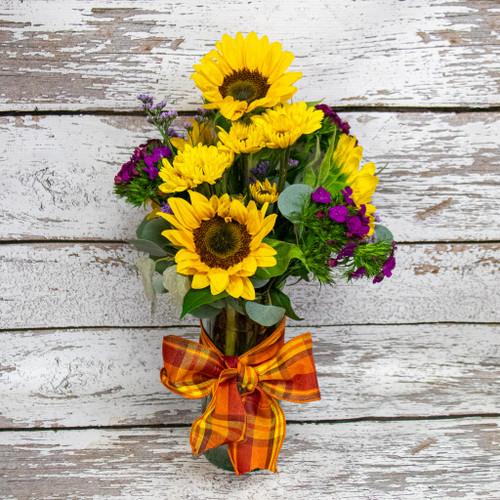 Sunny Autumn Day Vase Arrangement