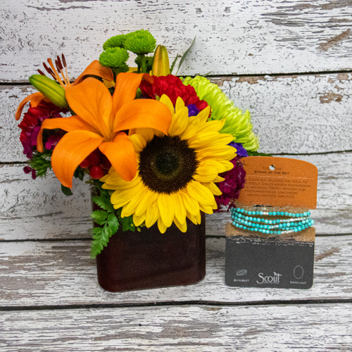 Turquoise and Sunflowers Bundle
